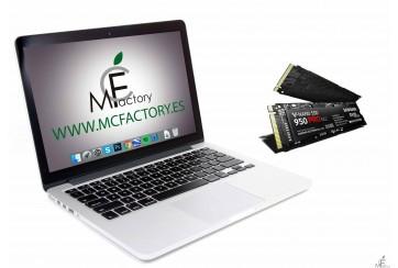 """Instalación de disco SSD para MacBook Pro Retina de 13"""" o 15"""""""